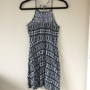 H&m divided Ikat high neckline dress
